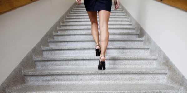 rester actif travail faire escalier
